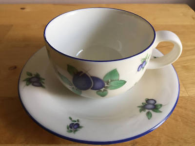 Royal Doulton Everyday Blueberry Pattern Cup & Saucer - More Available - Used • 9.99£