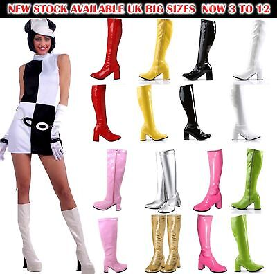 New Women's Ladies Fancy Dress Party GO GO Boots - 60s & 70s Party Sizes 3 TO 12 • 21£