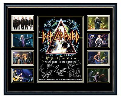 AU94.99 • Buy Def Leppard 2018 Hysteria Tour Signed Limited Edition Framed Memorabilia