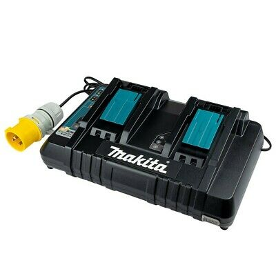 Makita DC18RD/1 110v 14.4-18V LXT Twin Port Rapid Battery Charger • 105£