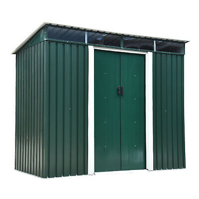 Outsunny 8 X 4FT Metal Garden Shed Outdoor Storage Tool Organizer Box Container • 189.99£