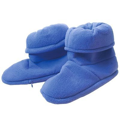 £11.49 • Buy Lavender Microwave Boots Heated Warm Fleece Thermal Slippers Winter Home Socks