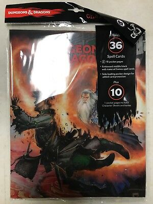 AU25.49 • Buy Dungeons And Dragons 9-pocket Character Folio From Ultra Pro, Spell Cards D&D