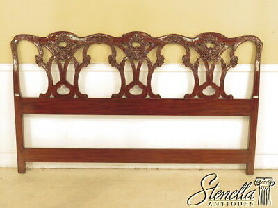 $595 • Buy L40345: King Chippendale 18th Century Design Carved Mahogany Headboard ~ New