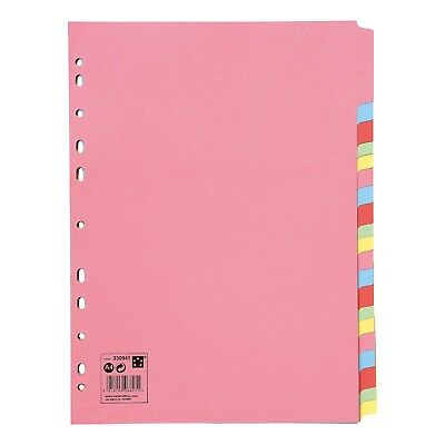 £1.39 • Buy 5-20 Subject File Filing Dividers Folder - Multi Colour A4 Punched Index Sheets