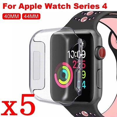 $ CDN6.34 • Buy 5pcs Apple Watch Series 4 Soft TPU Case & Tempered Glass Film Screen Protector