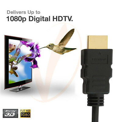 $ CDN8.74 • Buy 2 Pack Super Speed 2FT 1080P HDMI Cable For HDTV, Plasma, LCD, PS3, DVD