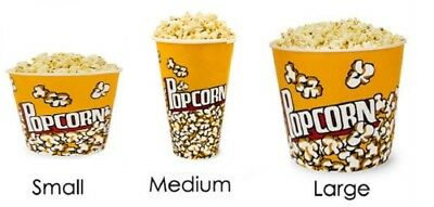 Popcorn Holder Reusable Plastic Bucket Tub Great For Movie Nights Cinema Film • 5.99£