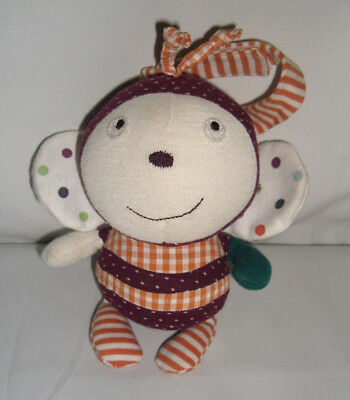 £6 • Buy Mamas And Papas Busy Bee Soft Rattle Toy Chime Comforter Doudou Scrapbook Girl