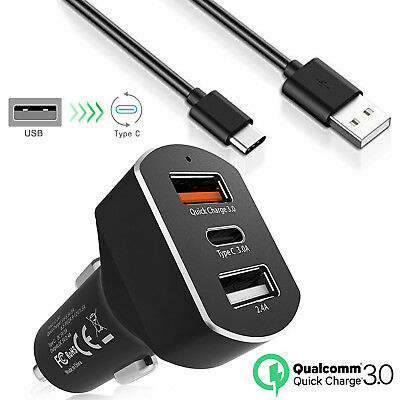 $ CDN9.99 • Buy  Premium 8.4A Fast Car Charger + USB C Charging Cable For Samsung Galaxy Note 9