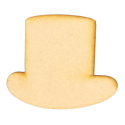 £10 • Buy Top Hat 02 3mm MDF Wooden Laser Cut Card Craft Topper Shapes Various Sizes