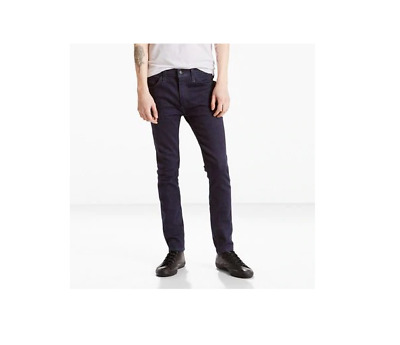 Genuine LEVIS 519 Extreme Skinny Fit Stretch Mens Jeans Dark Blue Navy • 99.99£