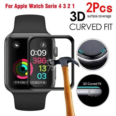 $ CDN3.07 • Buy 2x Apple Watch Series 4 3D Full Tempered Glass Screen Protector 40/44mm LOT #d1
