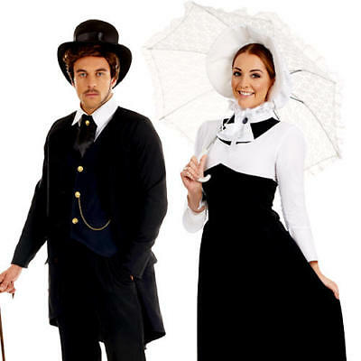 Victorian Adults Fancy Dress Historical Edwardian Book Day Mens Ladies Costume • 19.99£