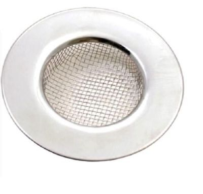 £2.95 • Buy Stainless Steel Polished Sink Bath Plug Hole Strainer, Hair Trap Drainer Mesh