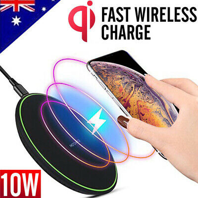 AU11.95 • Buy Wireless Charger Qi Fast Charging Receiver IPhone X 8 Plus Samsung Note10 S8 S9