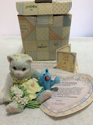 Calico Kittens Figurine By Enesco  Planting The Seeds Of Friendship  • 10£