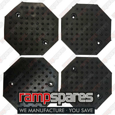 Automotech Lift Pads Octagonal 2 Post Garage Lift Ramp Spares Parts - 4 Pads • 54.96£