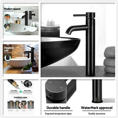 AU79 • Buy Mixer Tap Bathroom Basin Faucet Counter Tall Vanity Brass WELS Black Mixers AU