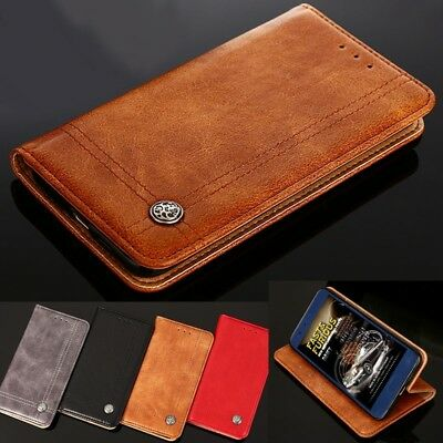 AU11.99 • Buy Genuine Luxury Leather Wallet Case Cover For LG G5 G6 G7 G8 ThinQ Q6 Q7 V30 Plus
