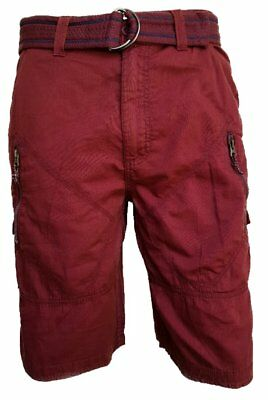 Men's Airwalk Maroon Red Thin Stripe Cargo Combat Shorts RRP $44.00 • 12.99£