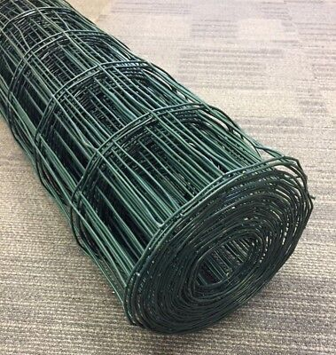 Green PVC Coated Fence Welded Mesh Wire Fencing 4  X 2  1.2m X 10m Roll • 16.49£