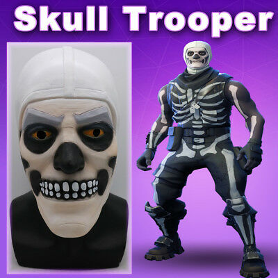 $ CDN35.25 • Buy Fortnite Skull Trooper Cosplay Mask Halloween Costume Latex Masks Party Props