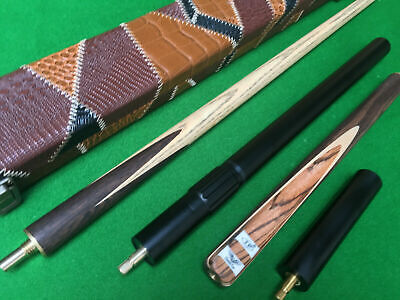 1 Piece Handmade Ash Snooker Cue Set With Case And Telescopic Extension • 79.99£