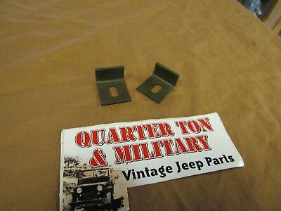 $8 • Buy Rear Seat Pivot Retainer Pair NOS Fits Willys MB GPW M38 M38A1 Jeep