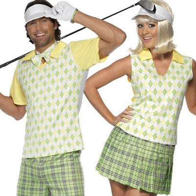 Golfing Golfer Sports Costume Mens Ladies Pub Golf Uniform Adults Fancy Dress • 29.99£