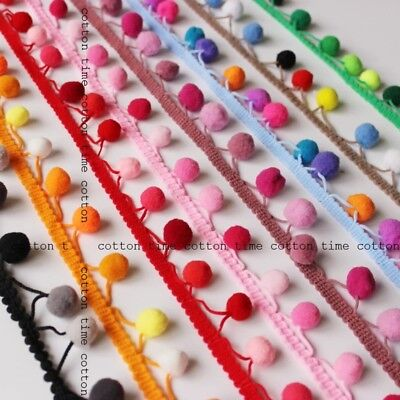 Pom Pom Bobble Balls Trim Ribbon Craft Upholstery Boho Ethnic Sewing Edging • 2.29£