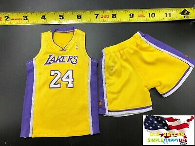 $27.99 • Buy 1/6 Scale Kobe Lakers Yellow Jersey #24 For Hot Toys Phicen Enterbay Body ❶USA❶