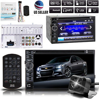 $154.46 • Buy Car Stereo DVD CD Bluetooth 2Din Player And Rear Camera For Chevrolet Silverado