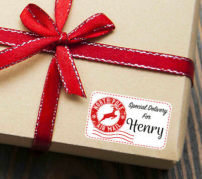 Personalised Special Delivery From Santa Christmas Present Stickers Gift Labels • 1.95£