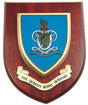 The Queens Royal Hussars Classic Hand Made In Uk Regimental Wall Plaque • 19.99£