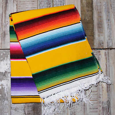 Mexican Stripey Blanket - Yellow • 32£