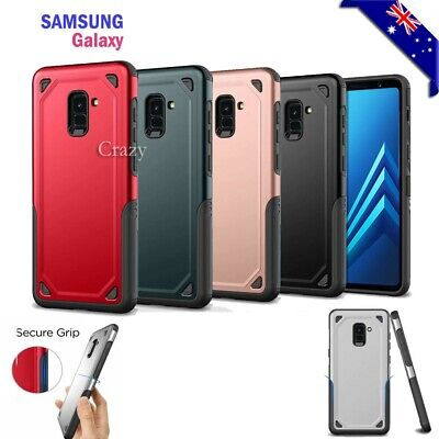 AU7.90 • Buy Heavy Duty Shockproof Case Hybrid Armor Cover For Samsung Galaxy A8 J8 2018
