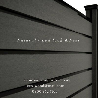 Composite Fence Panels. Garden Fence Panels Made To Order By Eco-Wood • 195£