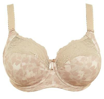Elomi Morgan Underwired Banded Stretch Full Cup Non Padded Supportive Bra - Nude • 27.95£