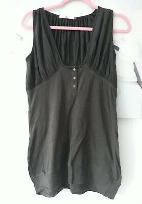 Ladies Brown Top By Mike & Chris Size Small • 3.99£