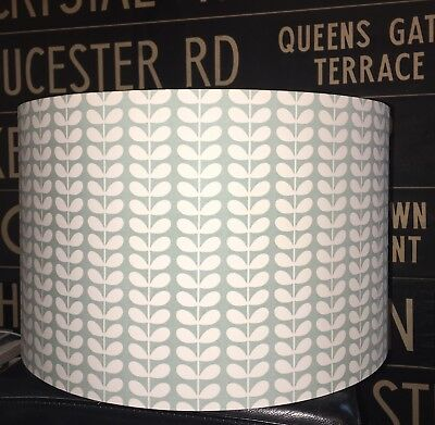 Made To Order Lampshade Orla Kiely Tiny Stem Duck Egg Or Cloud Grey Match Duvet  • 28£
