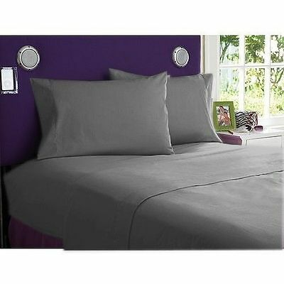 1000TC Egyptian Cotton Luxurious All Bedding Item UK Size Elephant Grey Solid • 55.93£