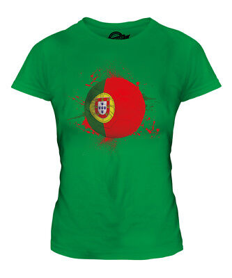 Portugal Football Ladies T-shirt Tee Top Gift World Cup Sport • 18£