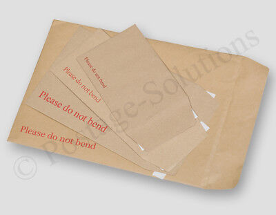 £3.45 • Buy Hard Card Board Backed - Please Do Not Bend - Envelopes Manilla Brown - All Size