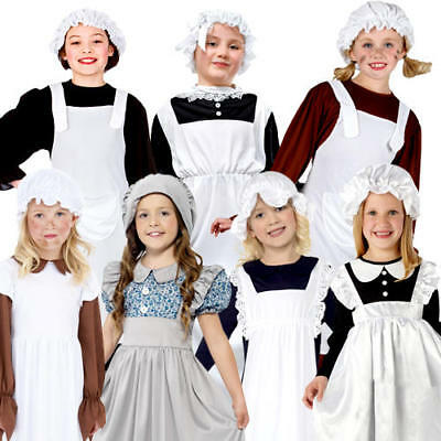 £7.99 • Buy Victorian Poor Girls Fancy Dress Childrens World Book Day Character Kids Costume