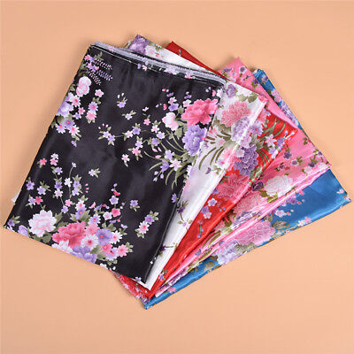 £3.36 • Buy 1m Peony Flowers Patterned Satin Fabric Ribbons For DIY Clothes Sewing Material