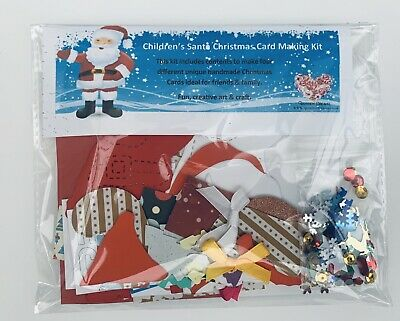 Children's Father Christmas Card Making Kit - Makes 4 Different Christmas Cards • 4.99£