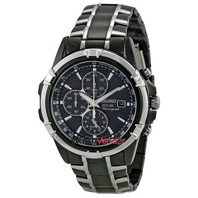 $ CDN323.99 • Buy Seiko Solar Chronograph Black Dial Men's Watch SSC143