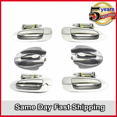 $119.93 • Buy Outer Door Handle & Mirror Cap 6PCS  For 2002-2006 Nissan Altima Silver & Chrome