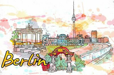 Fine Art Quality Postcard, Berlin, Germany, Landmarks, City, View, Travel 80H • 2.50£